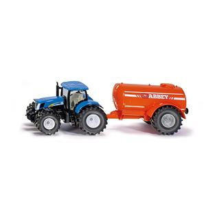 Siku 1:50 New Holland T7070 Tractor and Abbey Single Axle Vacuum Tanker