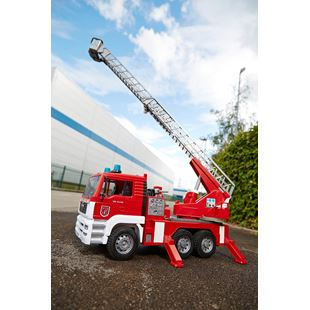 Bruder MAN Fire Engine and Red Toy Helmet