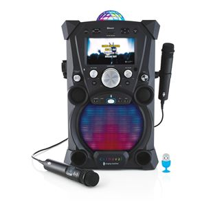 Singing Machine Carnaval Karaoke Machine Black