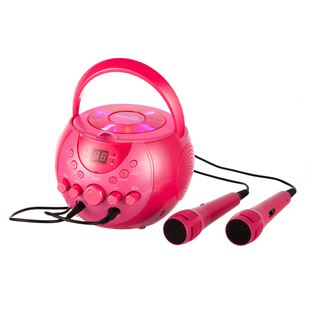 RockJam Karaoke Machine Party Pack Pink