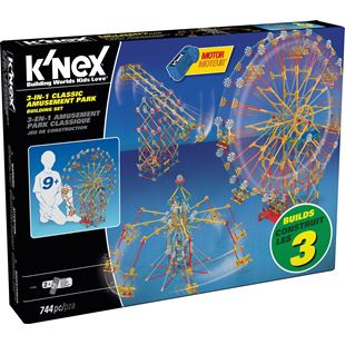 K'NEX 3 in 1 Classic Amusement Park Building Set