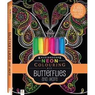 Neon Colouring Kit Butterflies