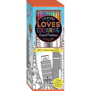 Everyone Loves Colouring Poster: Cityscape