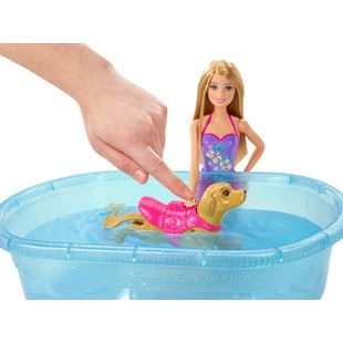 Barbie Puppy Chase Swimming Pup Pool and Doll