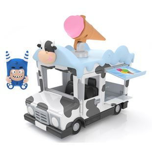 Oddbods Action Vehicle Pogo Ice Cream Van
