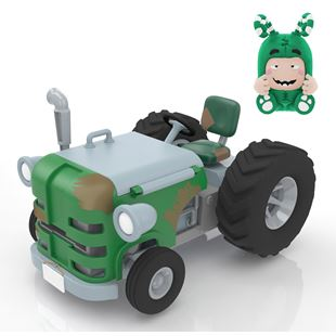 Oddbods Action Vehicle Zee Tractor