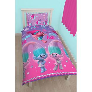 Trolls Glow Single Duvet Set