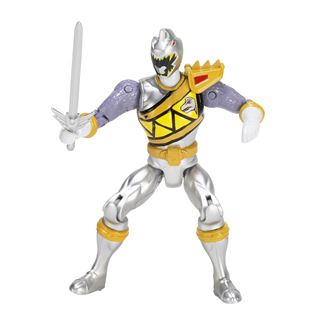 Power Rangers Dino Super Charge 12.5cm Silver Ranger