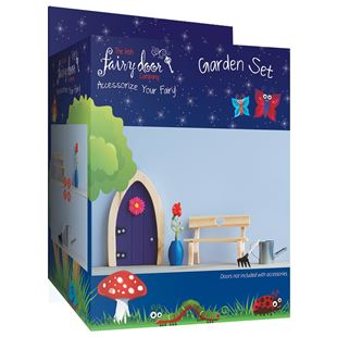 Irish Fairy Door 4-Piece Garden Accessory Set