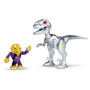 Teenage Mutant Ninja Turtles Half-Shell Heroes Triceraton and Robo T-Rex Dinosaur