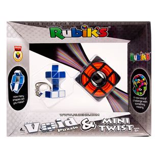 Rubiks Void and Twist Keyring Pack