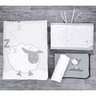CuddleCo Comfi Dreams - 4 Piece Sleepy Sheep Bedding Set