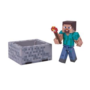 Minecraft Steve with Minecart 7cm Figure Pack Series 3