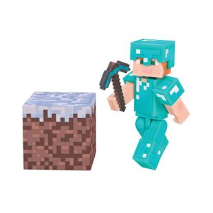 Minecraft Alex with Diamond Armor 7cm Figure Pack Series 3