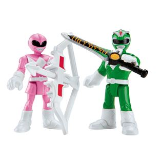 Imaginext Power Rangers Basic Figure 2 Pack Green and Pink Ranger