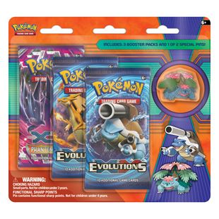 Pokémon TCG: Mega Venusaur & Mega Blastoise Collector's Pin 3-pack- Assortment