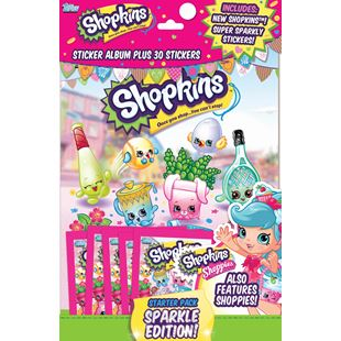 Shopkins Sparkle Sticker Starter Pack