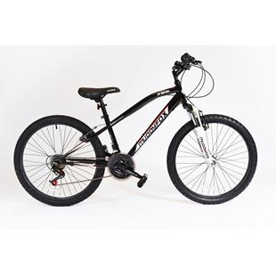 24 Inch Muddyfox Midnight Black Prevail Hardtail Bike
