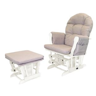 Babylo Milan Glider Chair with Footstool