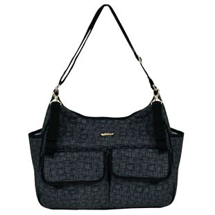 BiiBi Messenger Bag - Cross Thatch Black