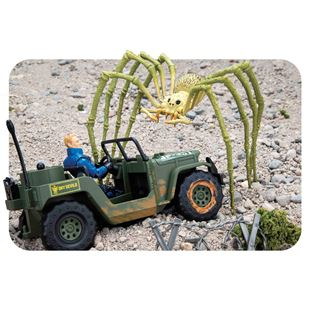 Kong Skull Island Spider with Jeep and Figure