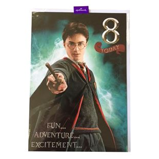 Harry Potter 8th Birthday Card