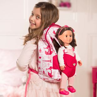 Hop On Doll Carrier Back Pack - Party
