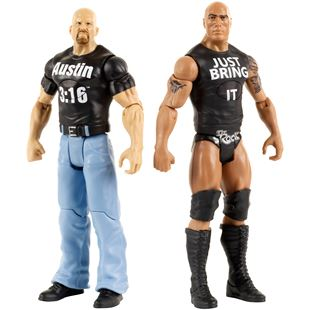 WWE Tough Talkers Stone Cold Steve Austin and The Rock 2 Pack