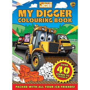 My First JCB My Digger Colouring Book
