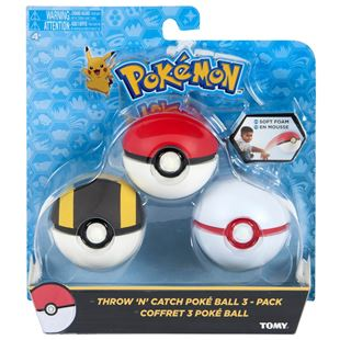 Throw N Catch Pokéball 3 Pack
