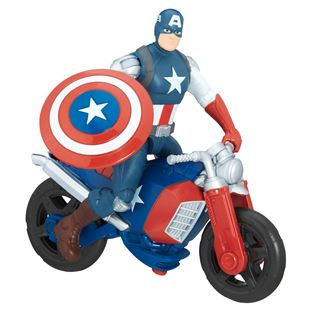 Marvel Avengers Captain America with Motorcycle - Assortment