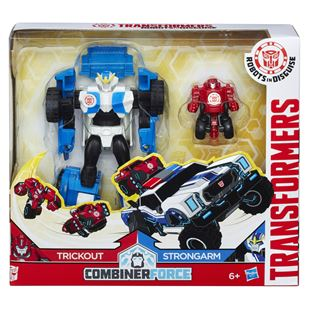 Transformers Combiner Robots in Disguise Strongarm and Trickout