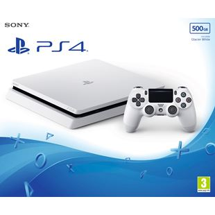 PlayStation 4 500GB Slim Glacier White Console