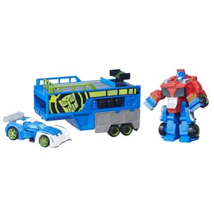 Transformers Rescue Bots Optimus Prime Racing Trailor