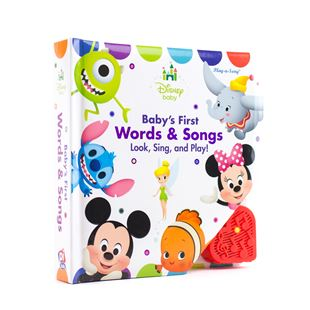 Disney Baby's First Words and Songs Baby Book