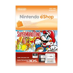 Super Mario Land 3DS DOWNLOAD CARD