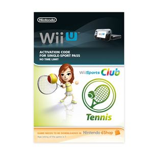 Wii Sports Club Tennis Wii U DOWNLOAD CARD