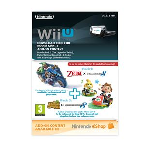 Mario Kart 8 DLC Combo Pack Wii U DOWNLOAD CARD