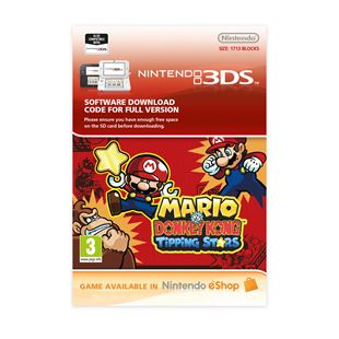 Mario Vs Donkey Kong Tipping Stars 3DS DOWNLOAD CARD