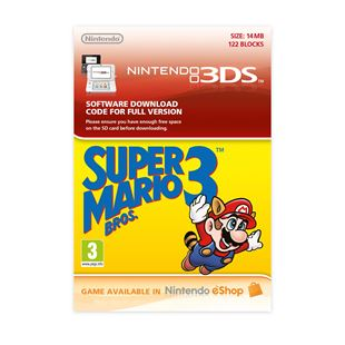 Super Mario Bros. 3 3DS DOWNLOAD CARD