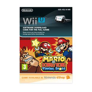 Mario Vs Donkey Kong Tipping Stars Wii U DOWNLOAD CARD