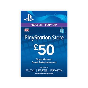 PlayStation® Wallet Top-up: £50.00 GBP