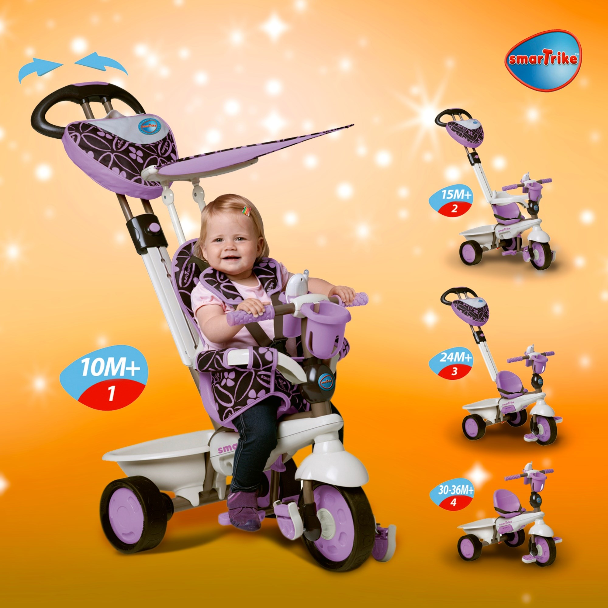 Smart Trike Dream Purple 4 in 1
