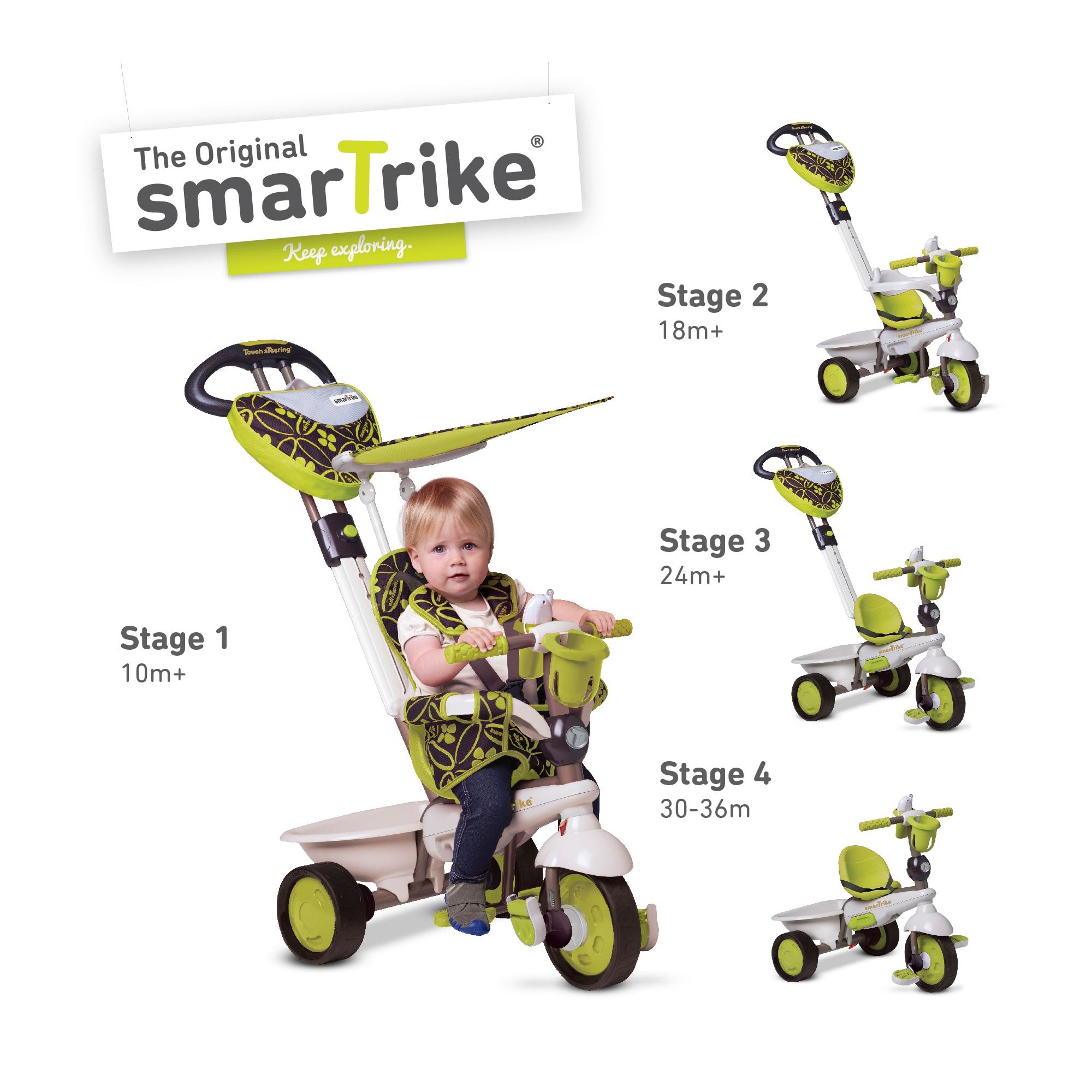 Smart Trike Dream Green 4 in 1