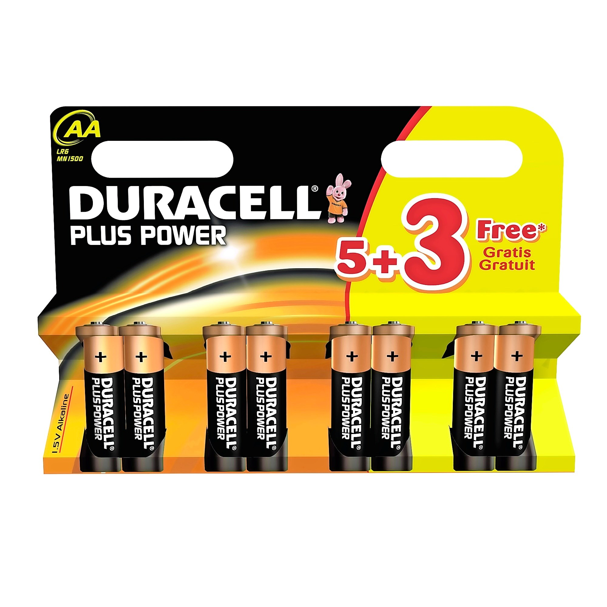 Duracell AA 53 Free Batteries