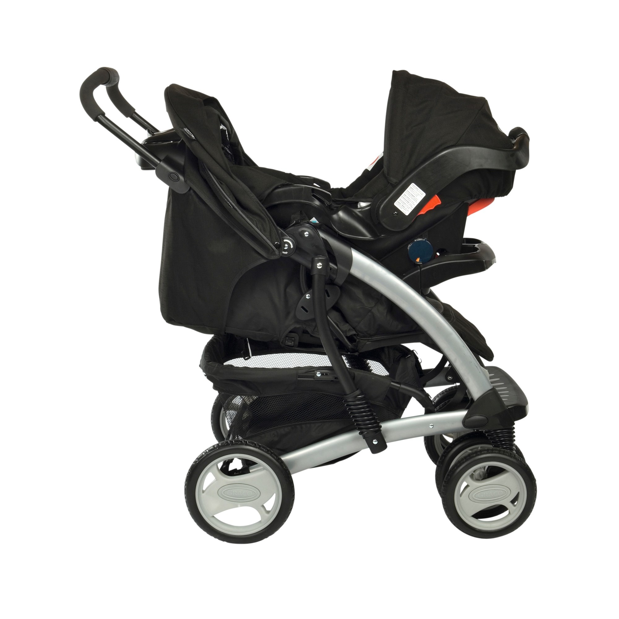 Graco Quattro Travel System Charcoal
