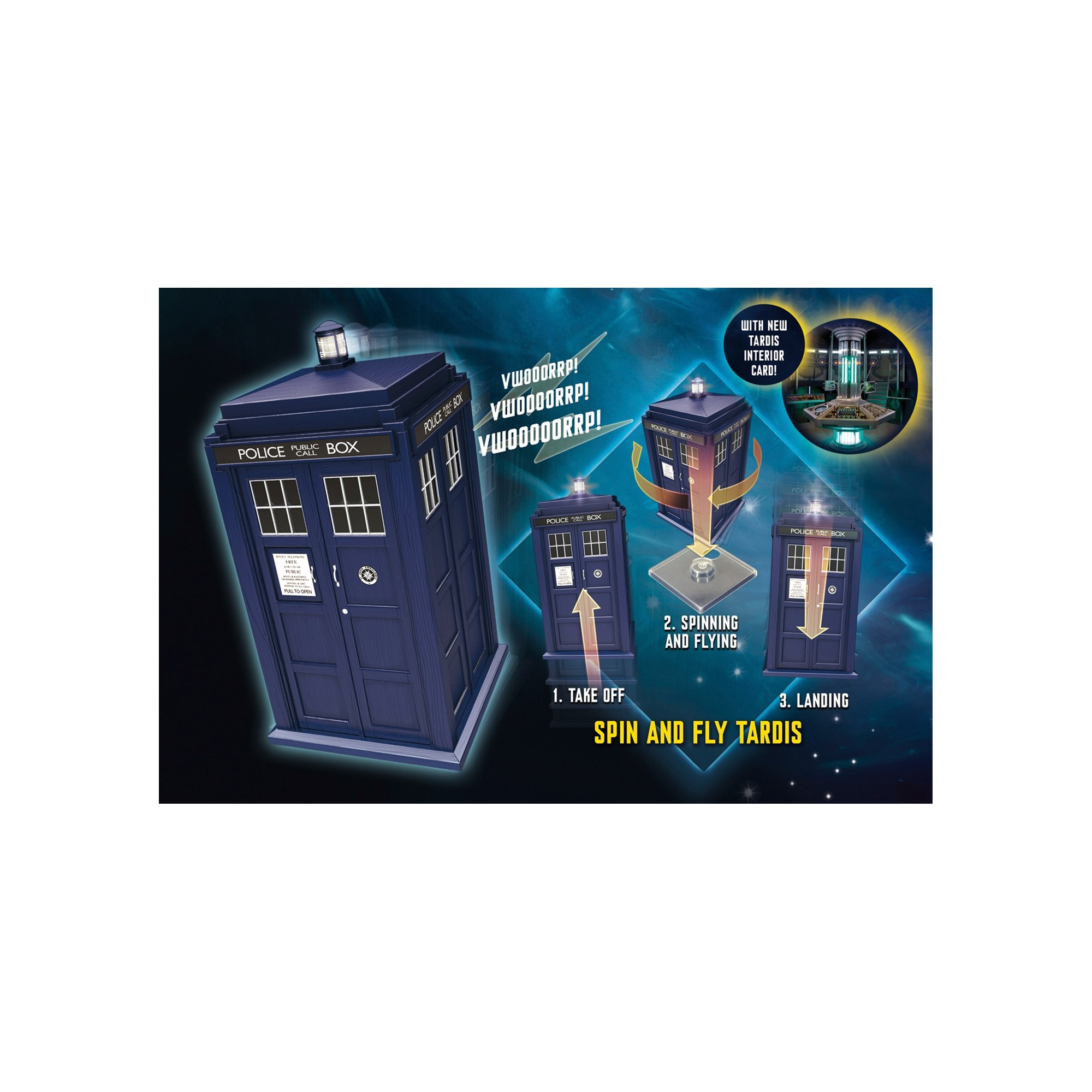 Dr. Who 10cm Scale Spin and Fly Tardis