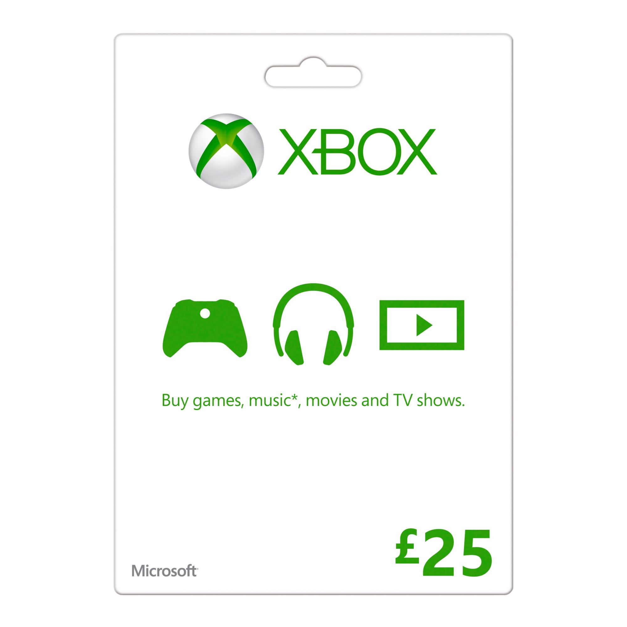 XBOX Live £25 Gold Card