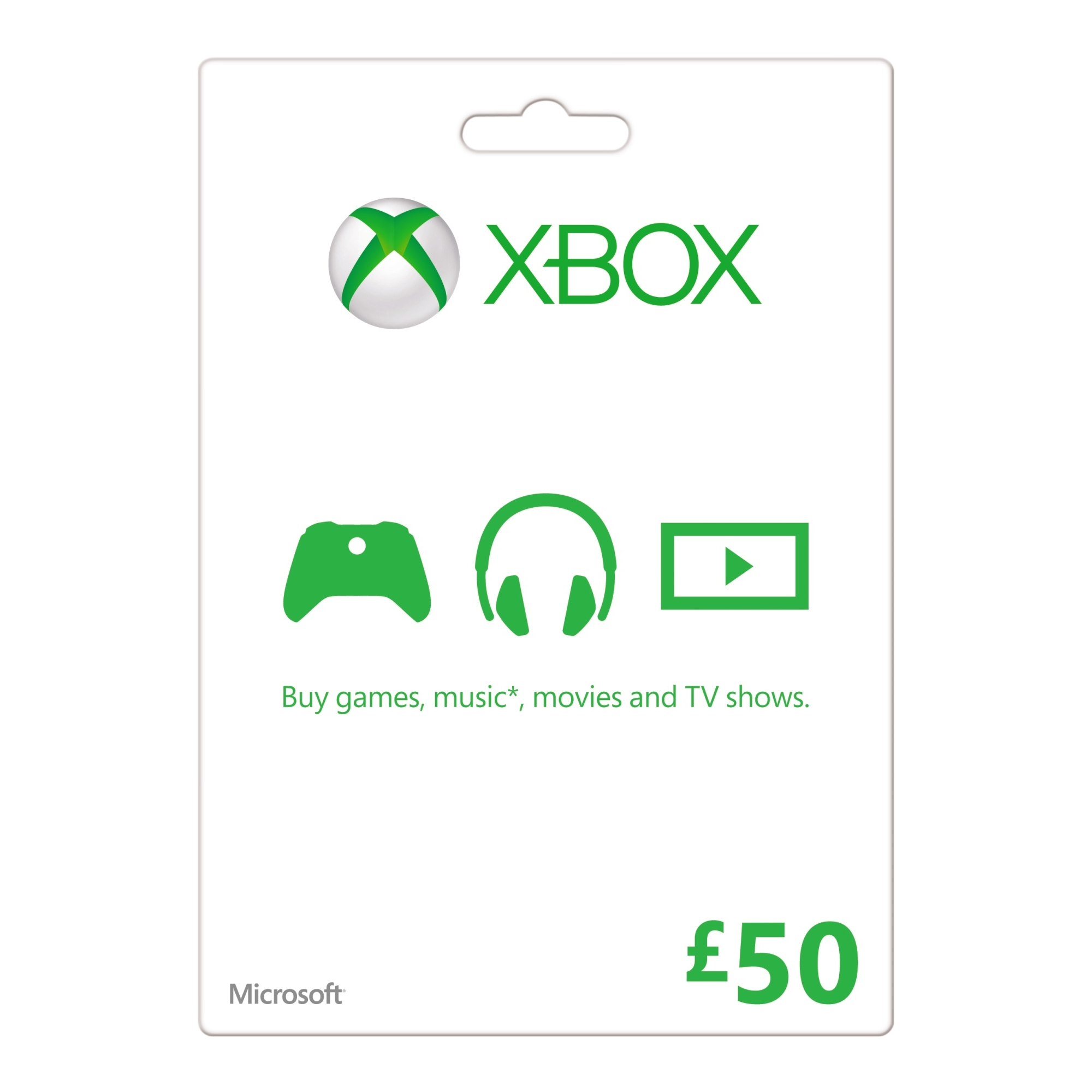 XBOX Live £50 Gold Card