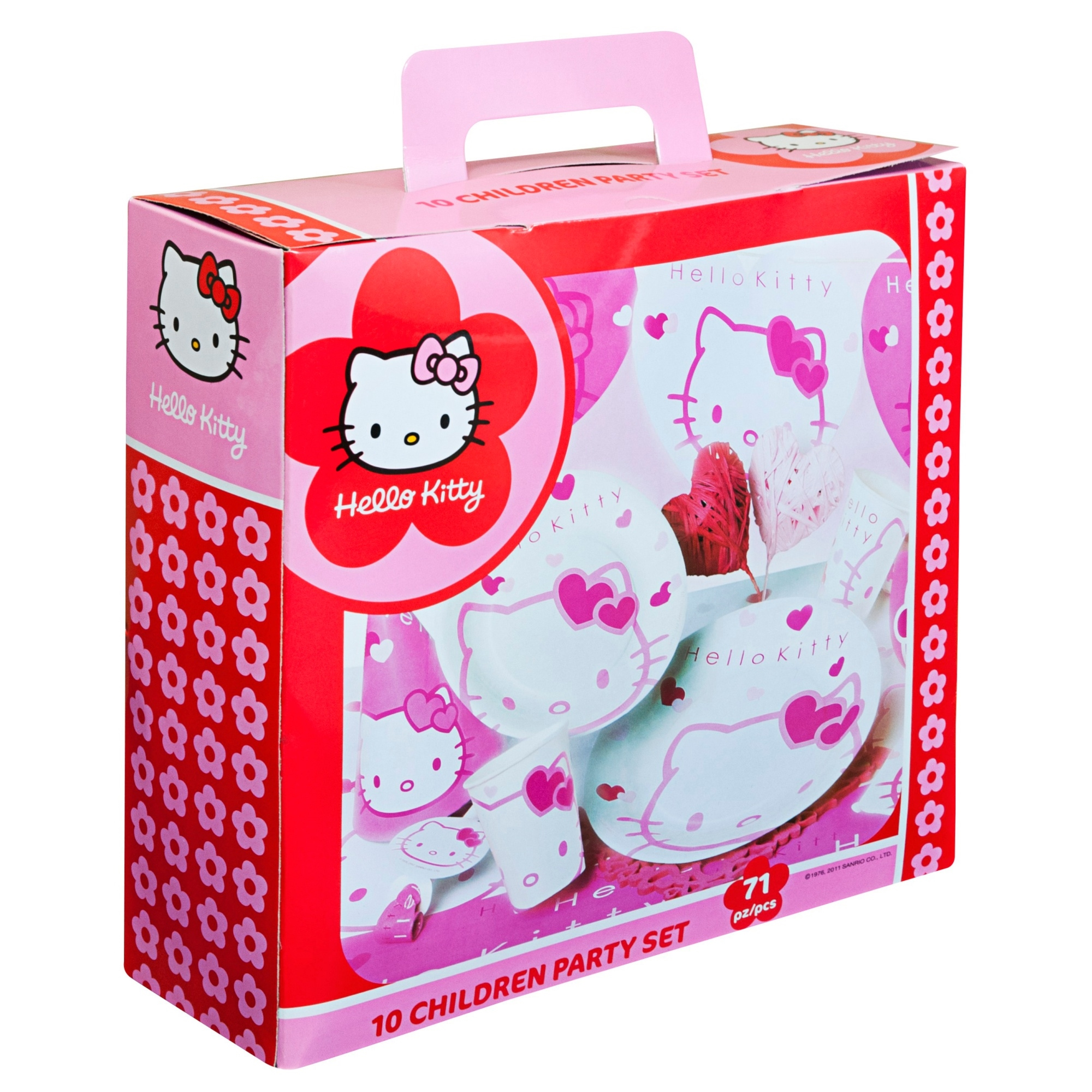 Hello Kitty Pink 10 person party pack